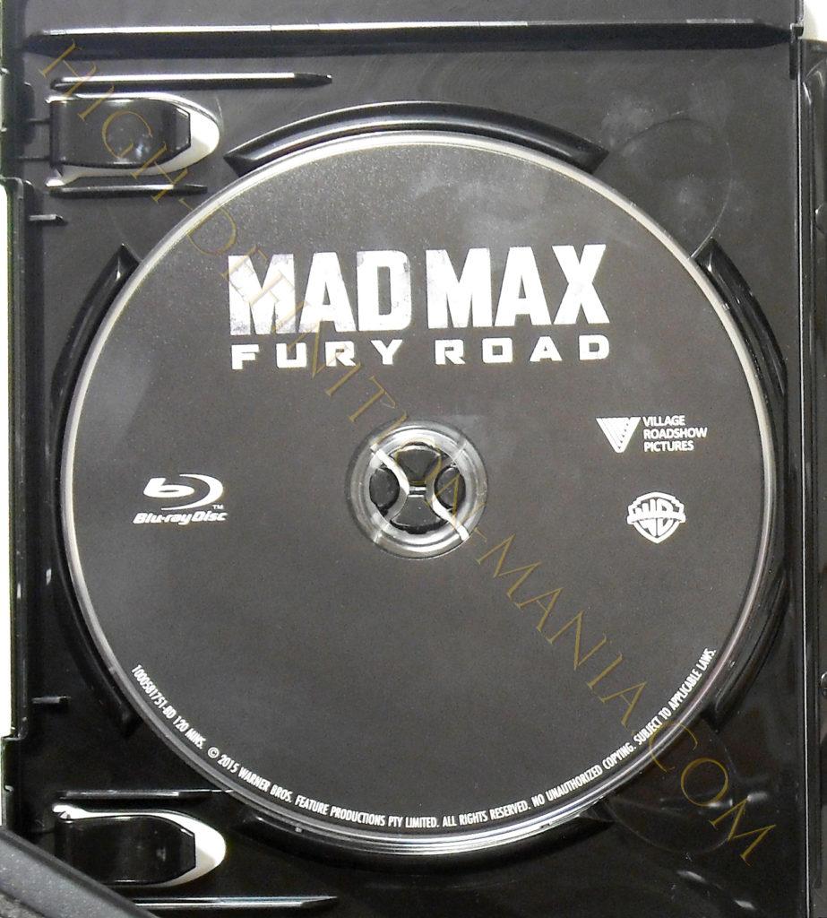 マッドマックス 怒りのデスロード 4K-UHD/Blu-rayディスク表面