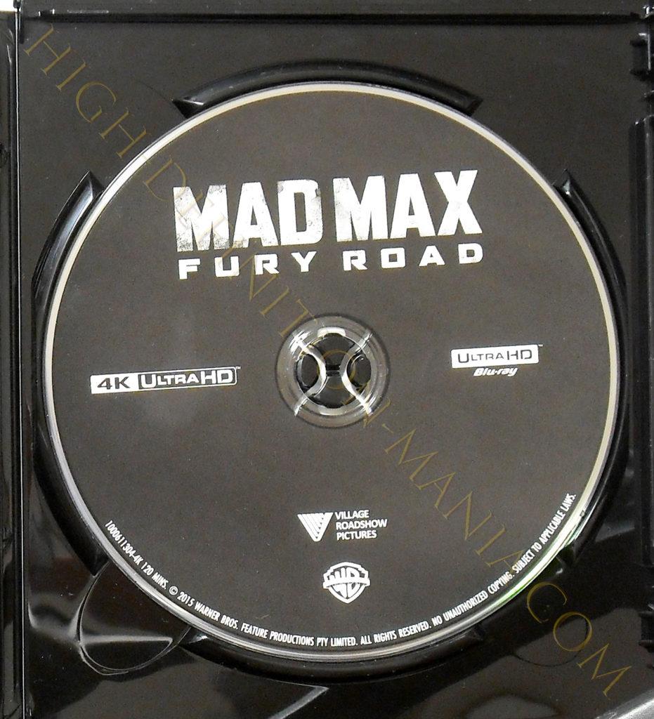 マッドマックス 怒りのデスロード 4K-UHDディスク表面
