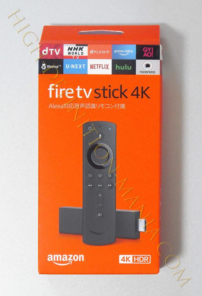 fire tv stick 4k パッケージ表面