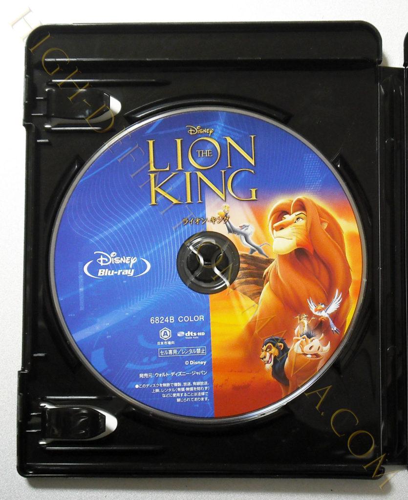 ライオン・キング セットのBlu-rayディスク