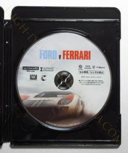 フォードVSフェラーリ4K-UHDディスク