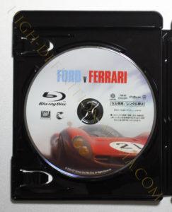 フォードVSフェラーリBlu-rayディスク
