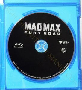 マッドマックス 怒りのデスロード Blu-rayディスク表面