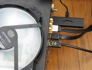 fire tv stick 4k 接続の様子